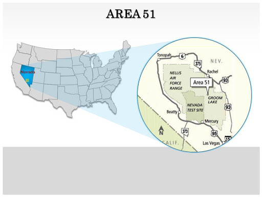 Area 51, Nevada USA, Secrete Place of USA